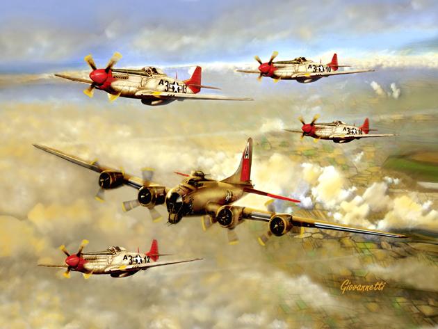 B-17_Tuskegee_Escort_a